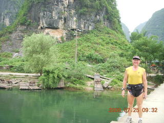 131 6xr. China eclipse - Yangshuo bicycle ride - walk to farm village - Adam