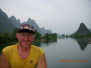 134 6xr. China eclipse - Yangshuo bicycle ride - walk to farm village - Adam