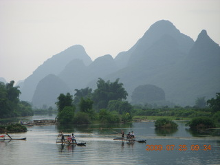 137 6xr. China eclipse - Yangshuo bicycle ride - walk to farm village