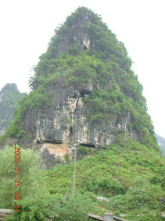 138 6xr. China eclipse - Yangshuo bicycle ride - walk to farm village