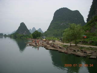 139 6xr. China eclipse - Yangshuo bicycle ride - walk to farm village