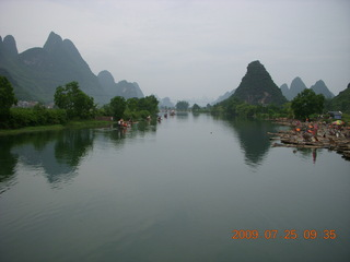 140 6xr. China eclipse - Yangshuo bicycle ride - walk to farm village