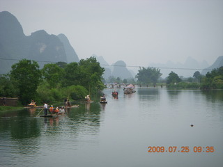 141 6xr. China eclipse - Yangshuo bicycle ride - walk to farm village