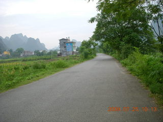 183 6xr. China eclipse - Yangshuo bicycle ride