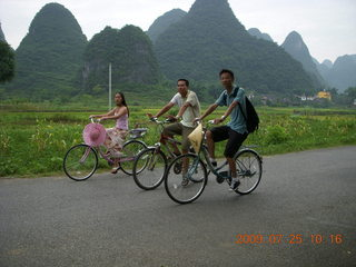 185 6xr. China eclipse - Yangshuo bicycle ride