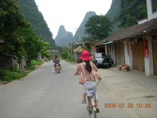 198 6xr. China eclipse - Yangshuo bicycle ride - Ling