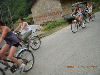 205 6xr. China eclipse - Yangshuo bicycle ride