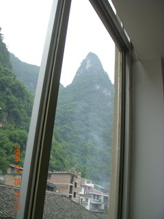 213 6xr. China eclipse - Yangshuo - view from hotel