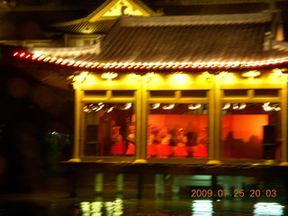 305 6xr. China eclipse - Guilin evening boat tour - side show