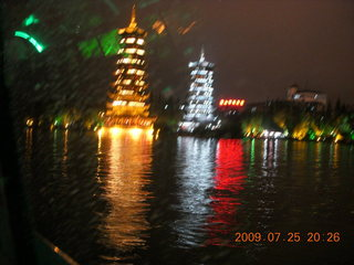 310 6xr. China eclipse - Guilin evening boat tour - sun and moon pagodas