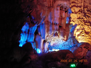 74 6xs. China eclipse - Guilin - Reed Flute Cave (really low light, extensive motion stabilization)