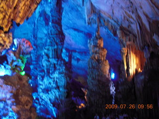 76 6xs. China eclipse - Guilin - Reed Flute Cave (really low light, extensive motion stabilization)
