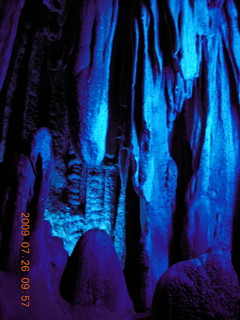 77 6xs. China eclipse - Guilin - Reed Flute Cave (really low light, extensive motion stabilization)