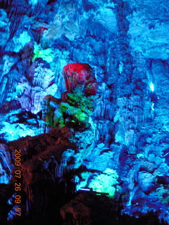 78 6xs. China eclipse - Guilin - Reed Flute Cave (really low light, extensive motion stabilization)