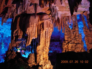 82 6xs. China eclipse - Guilin - Reed Flute Cave (really low light, extensive motion stabilization)
