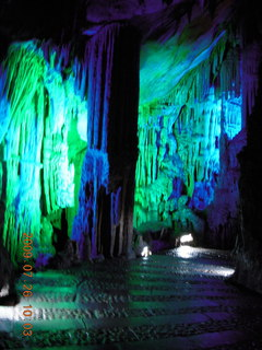84 6xs. China eclipse - Guilin - Reed Flute Cave (really low light, extensive motion stabilization)
