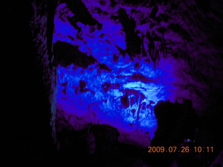 93 6xs. China eclipse - Guilin - Reed Flute Cave (really low light, extensive motion stabilization)