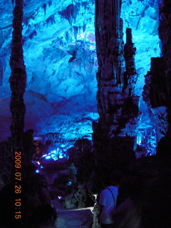 96 6xs. China eclipse - Guilin - Reed Flute Cave (really low light, extensive motion stabilization)