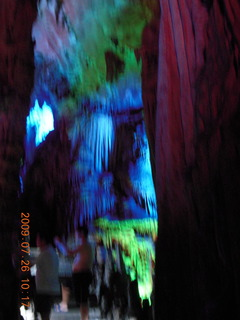 98 6xs. China eclipse - Guilin - Reed Flute Cave (really low light, extensive motion stabilization)