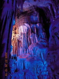 99 6xs. China eclipse - Guilin - Reed Flute Cave (really low light, extensive motion stabilization)