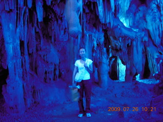 105 6xs. China eclipse - Guilin - Reed Flute Cave (really low light, extensive motion stabilization) - Ling