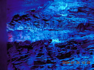 112 6xs. China eclipse - Guilin - Reed Flute Cave (really low light, extensive motion stabilization)