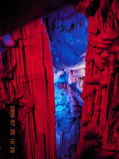 114 6xs. China eclipse - Guilin - Reed Flute Cave (really low light, extensive motion stabilization)