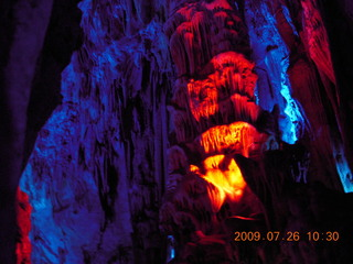 115 6xs. China eclipse - Guilin - Reed Flute Cave (really low light, extensive motion stabilization)
