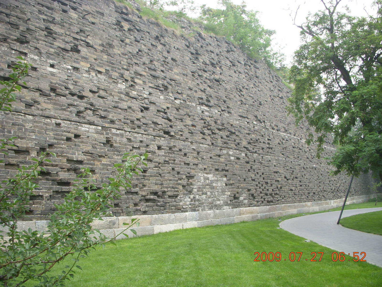 China eclipse - Beijing morning run - ancient Ming Dynasty wall