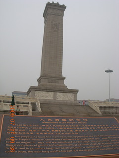 China eclipse - Beijing - Tianenman Square obelisk