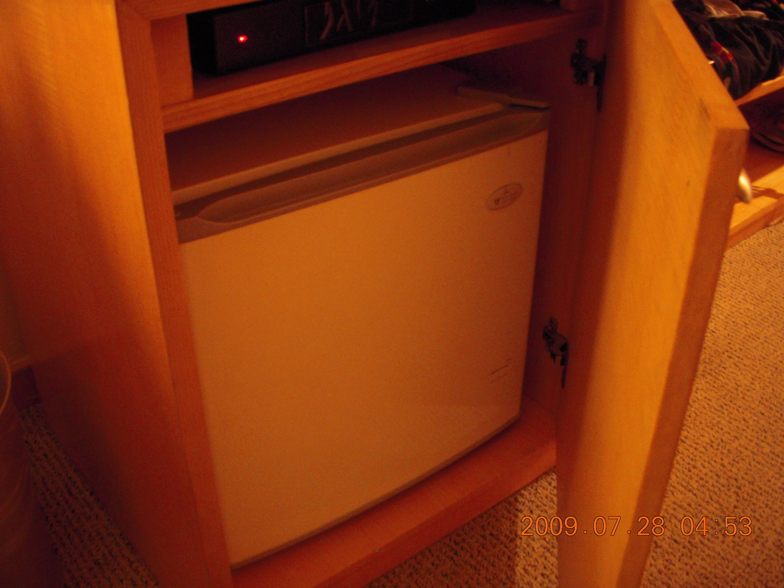 China eclipse - refrigerator in cabinet - not a good plan for heat dissipation
