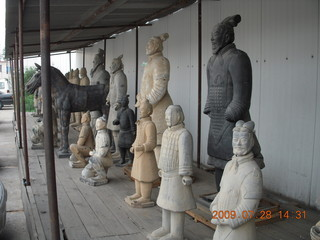 158 6xu. China eclipse - Beijing tour - cloisonne shop with their own terra-cotta warriors