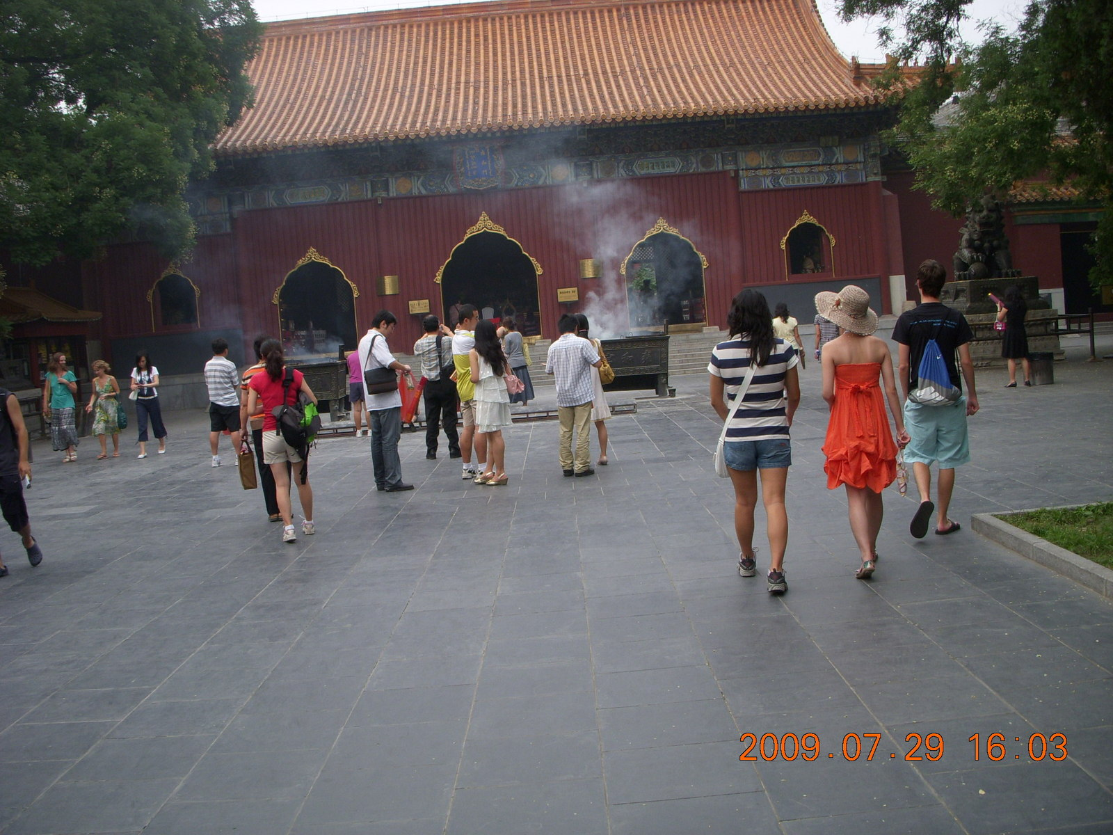 China eclipse - Beijing - Lama temples