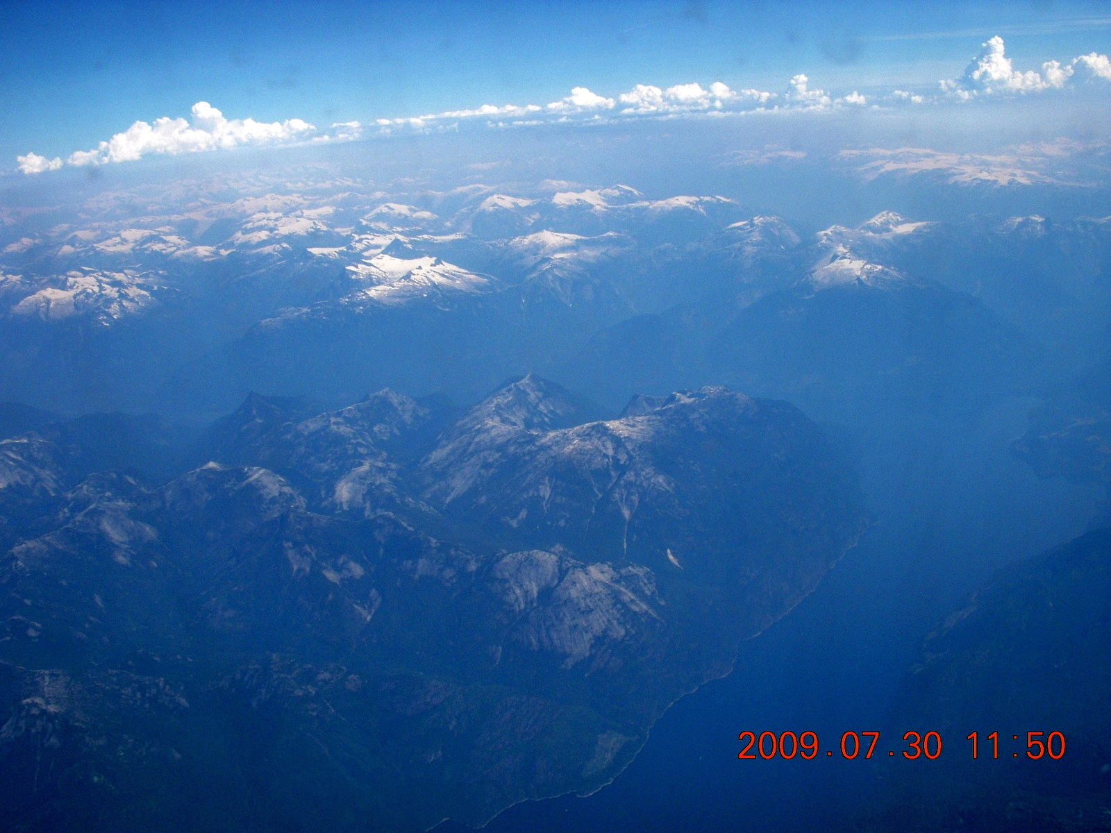 China eclipse - aerial - Canadian Rockies