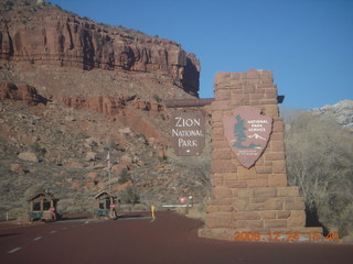 138 72q. Zion National Park - entrance sign